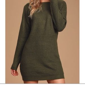 """Bringing Sexy Back"" LULU'S Backless Sweater Dress"
